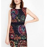 Desigual Bel Dress, Sleeveless w/ Bright Floral Lace