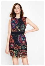 Desigual Bel Dress, Sleeveless w/ Bright Floral Lace
