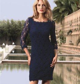 Joseph Ribkoff Joseph Ribkoff Navy Lace Dress