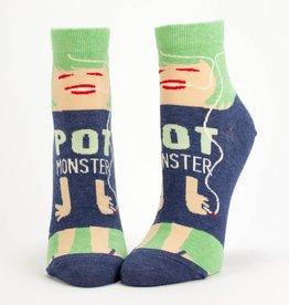 Blue Q Pot Monster Women's Ankle Socks