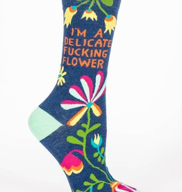 Blue Q Blue Q I'm a Delicate Flower Women's Socks