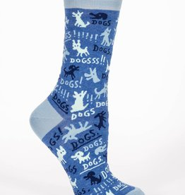 Blue Q Dogs! Women's Crew Socks