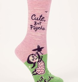 Blue Q Cute but Psycho Women's Crew Socks