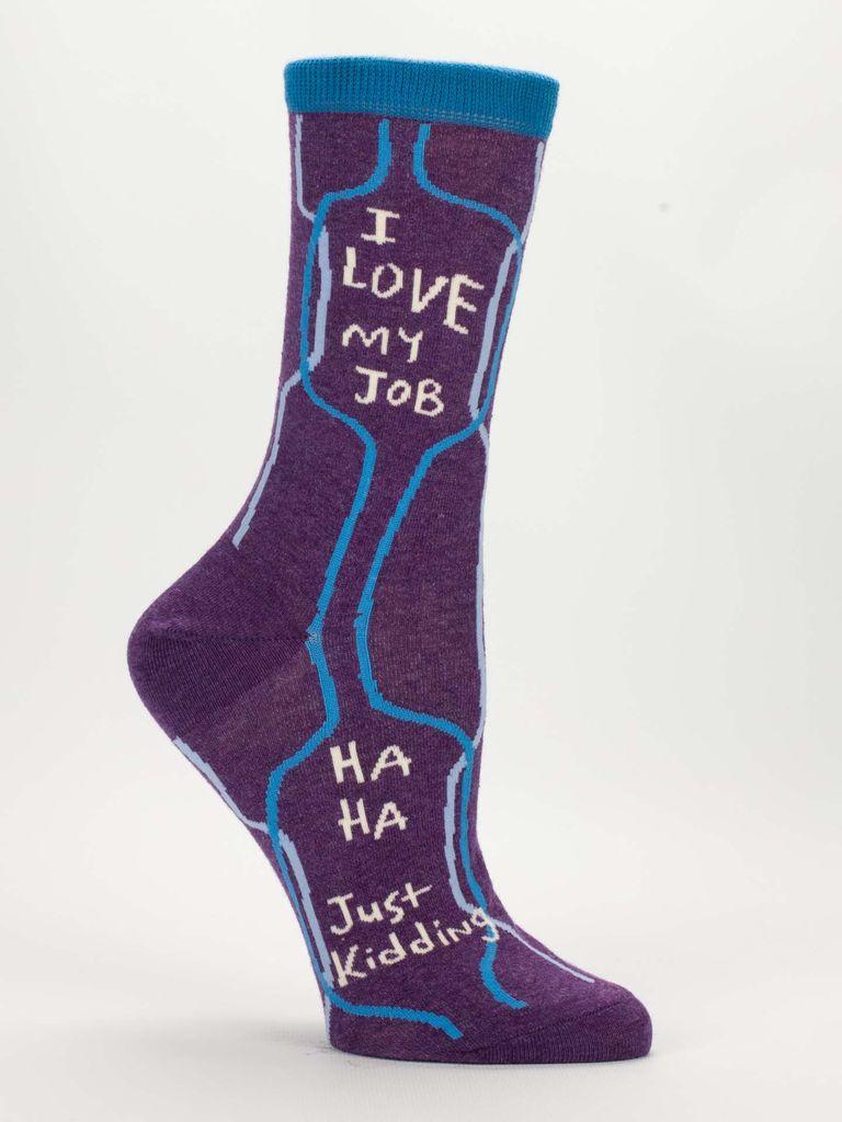 Blue Q Blue Q I Love My Job Women's Socks