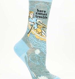 Blue Q Blue Q Here Comes Trouble Women's Socks