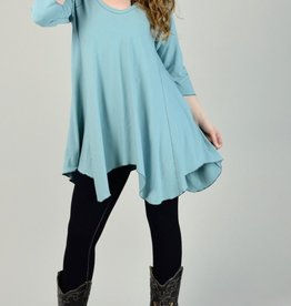 Angelrox Hi-Line Top, Long Pointed Hem