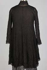 Comfy long open mesh cardigan