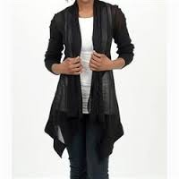 Cut Loose Mesh Inset Jacket/Cardigan