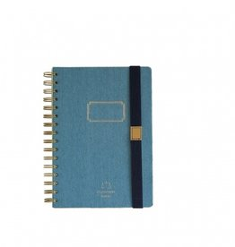 Time Concept Tools Denim Notebook A5, Blue