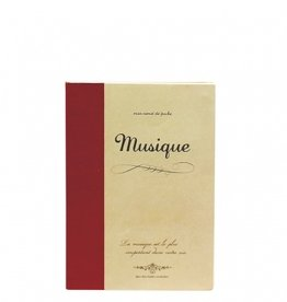 Time Concept Rough Note Music Notebook B5