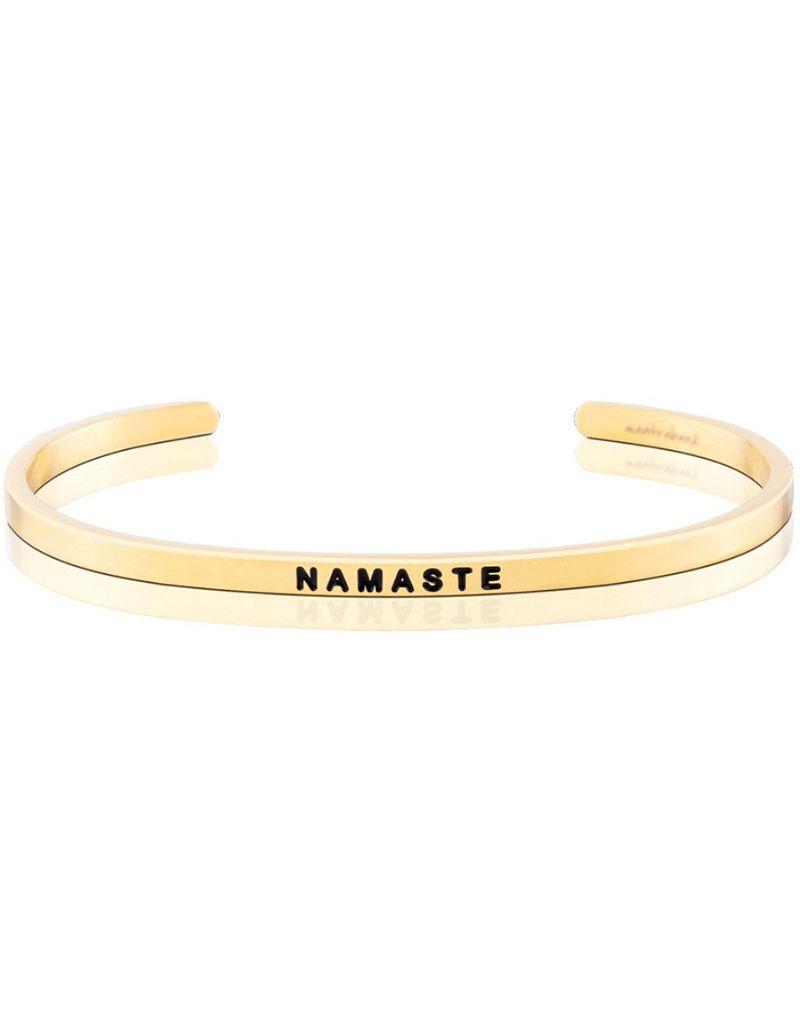 MantraBand Namaste - Mantra Bracelet - Yellow Gold