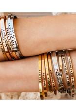 MantraBand Fearless Mantra Bracelet - Silver