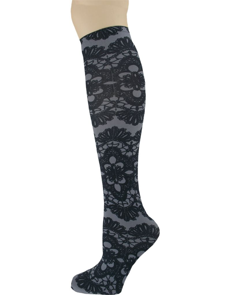Sox Trot Grey Senorita Knee High Socks