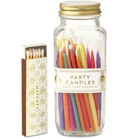 Skeem party multi colored candles in bottle