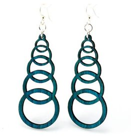 Green Tree Jewelry Ascending Circle Earrings Teal