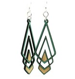 Green Tree Jewelry Chevron Deco Earrings