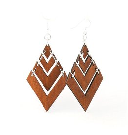 Green Tree Jewelry Fountain Pyramid Earrings, Cinnamon