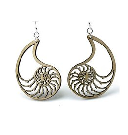 Green Tree Jewelry Nautilus Shell Earrings