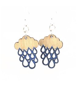 Green Tree Jewelry Rain Cloud Blossoms in Brilliant Blue