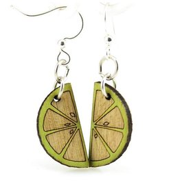Green Tree Jewelry Wedge Blossom Earrings in Lime
