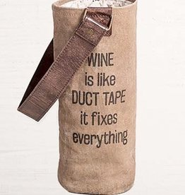 Mona B Mona B Wine Bag / Wine is Like Duct Tape