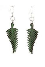 Green Tree Jewelry Solid Fern Earrings, Kelly Green