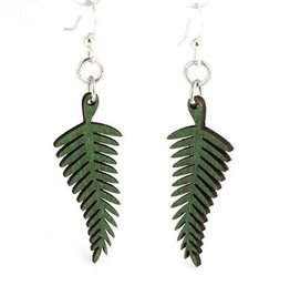 Green Tree Jewelry Fern Earrings in Kelly Green