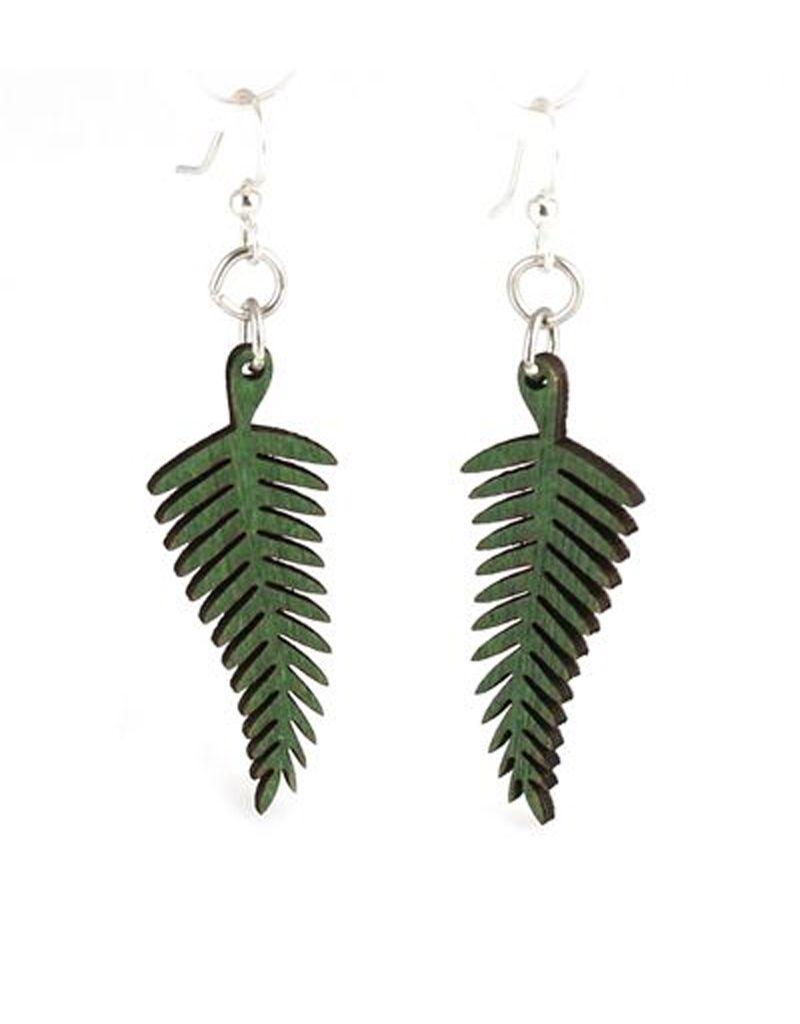 Green Tree Jewelry Fern Earrings in Kelly Green