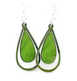 Green Tree Jewelry Water Droplet Earrings