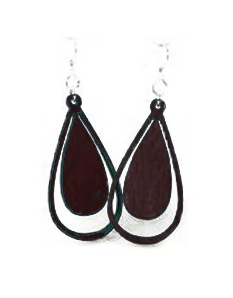 Green Tree Jewelry Water Droplet Earrings