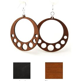 Green Tree Jewelry Hanging Circle Earrings