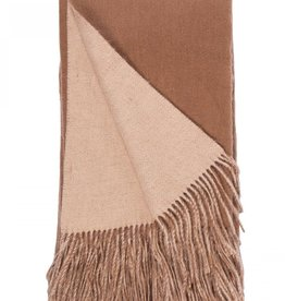 Alashan 95% Wool/5% Cashmere Double-Faced Woven Throw