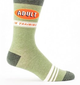 Blue Q Blue Q Adult in Training Men's Crew Socks