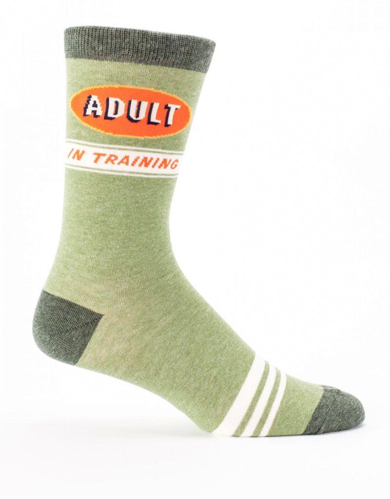 Blue Q Blue Q Adult in Training Men's Crew Socks
