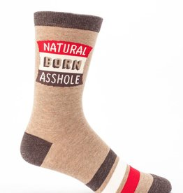 Blue Q Blue Q Natural Born Asshole Men's Crew Socks