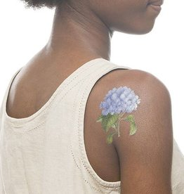 Tattly Tattly Blue Hydrangea (Scented) Tattoo