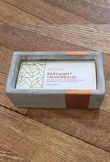 Paddywax Urban Concrete Rectangle 8 oz Candle - Bergamot & Mahogany