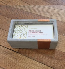 Paddywax Urban Concrete Rectangle 8 oz Candle - Bergamot & Mahogany
