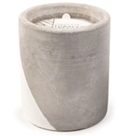 Paddywax Urban Concrete Pot 12oz Candle - Tobacco & Patchouli