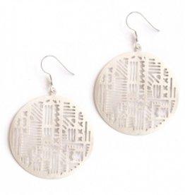 Mata Traders Mata Traders Timbuktu Earrings - Silver