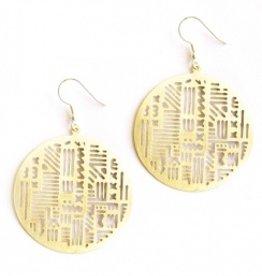 Mata Traders Mata Traders Timbuktu Earrings - Gold