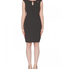 Joseph Ribkoff Joseph Ribkoff Polka Dot Cut-Out Dress