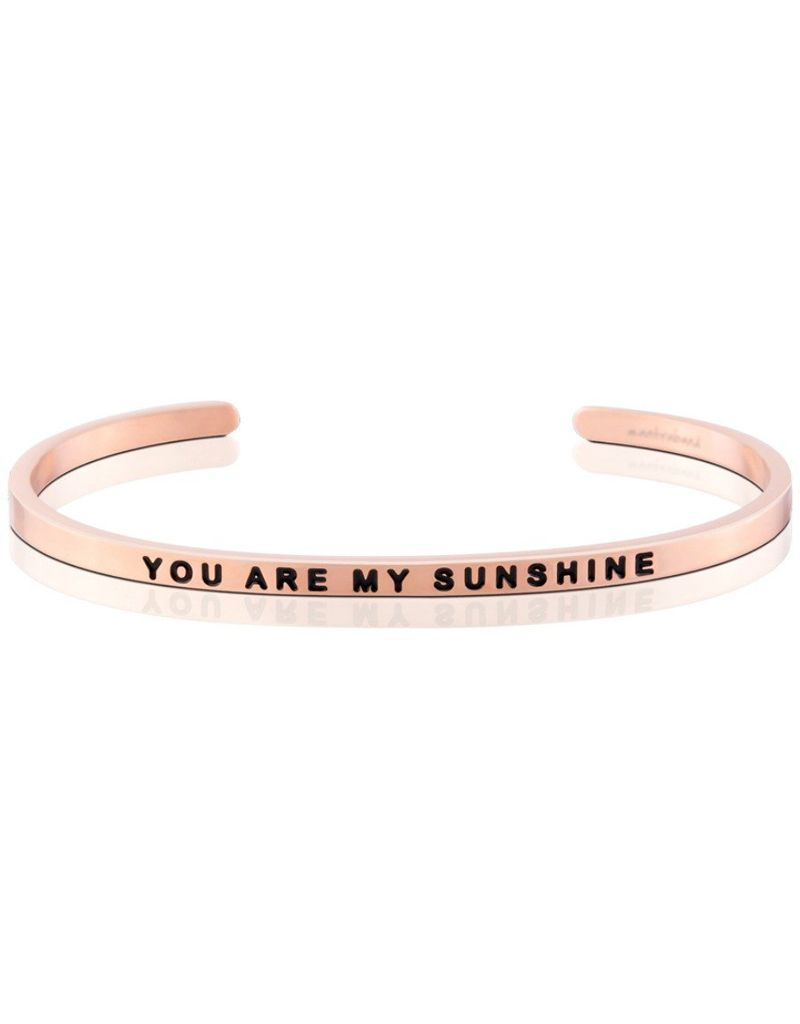 MantraBand You Are My Sunshine Mantra Bracelet - Rose Gold