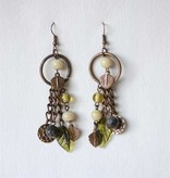 "Creative Co-op 3"" Metal Leaf Earrings"