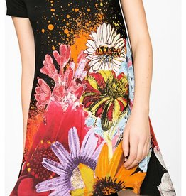 Desigual MC Luka T-Shirt Dress, Bold Floral Print