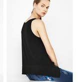 Desigual Black Sleeveless Top, Delicate Floral Print