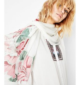 Desigual Foulard Rectangle Scarf, Blanco
