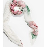 Desigual Desigual White Floral Print Scarf