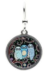 Earth Dreams 3 Small Owls Earrings