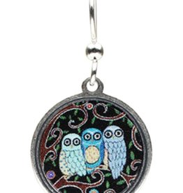 Earth Dreams 3 Small Owls Earrings